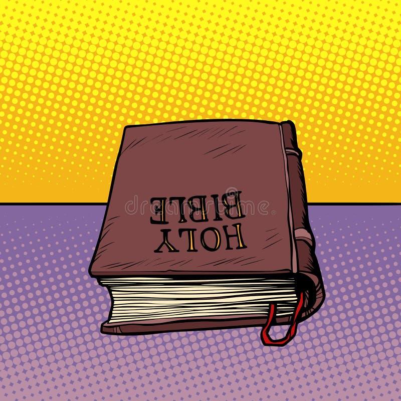 Buch der heiligen Bibel Christentum und Religion vektor abbildung