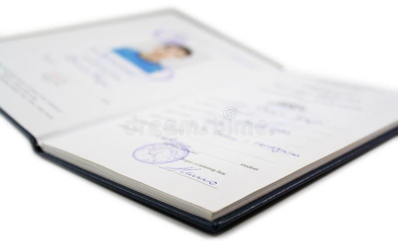 Buch des Kursteilnehmers lizenzfreies stockfoto