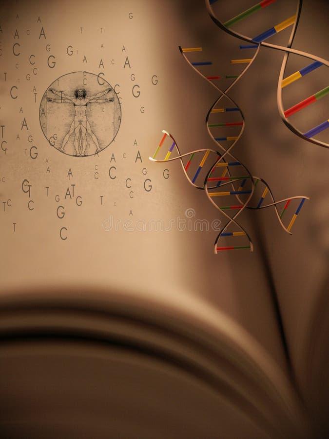 Buch des Lebens: Genetik lizenzfreie abbildung