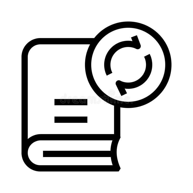 Buch erneuern Linie Ikone vektor abbildung