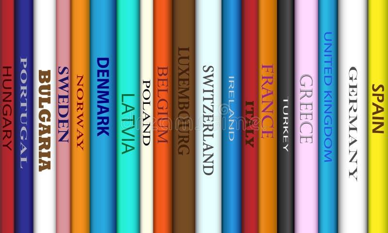 Buch-Europa-Reiseziele lizenzfreie abbildung