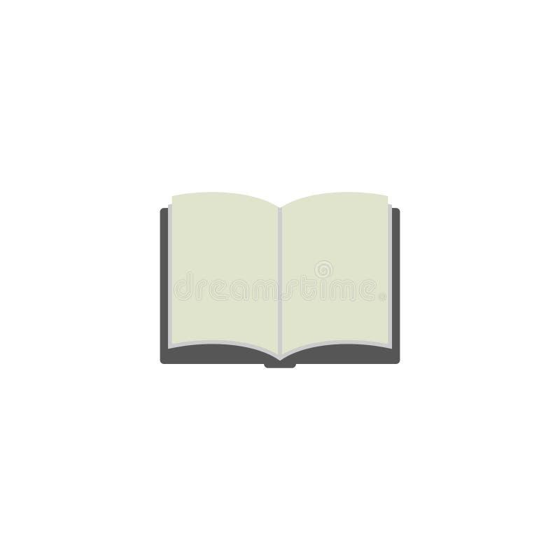 Buch-flacher Ikonen-Vektor, Symbol oder Logo vektor abbildung