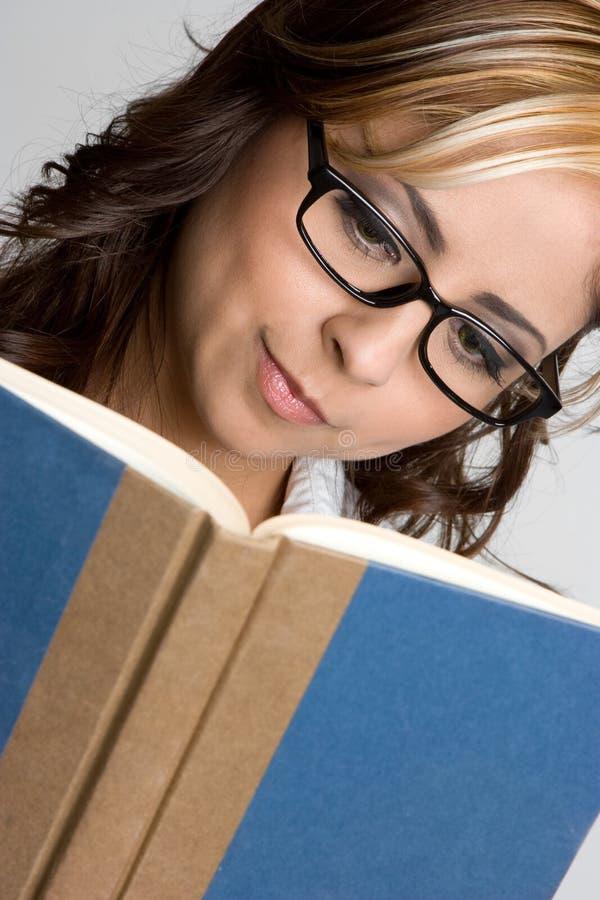 Buch-Frau lizenzfreies stockfoto
