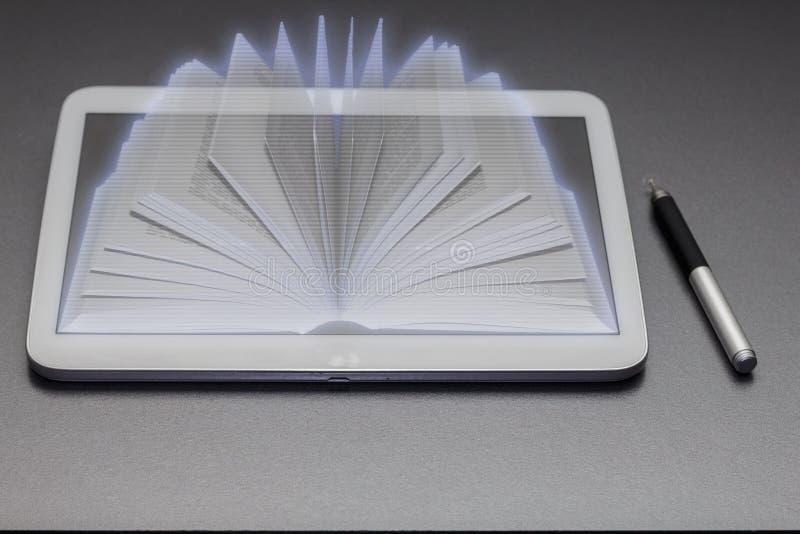 Buch-Hologramm lizenzfreie stockfotografie