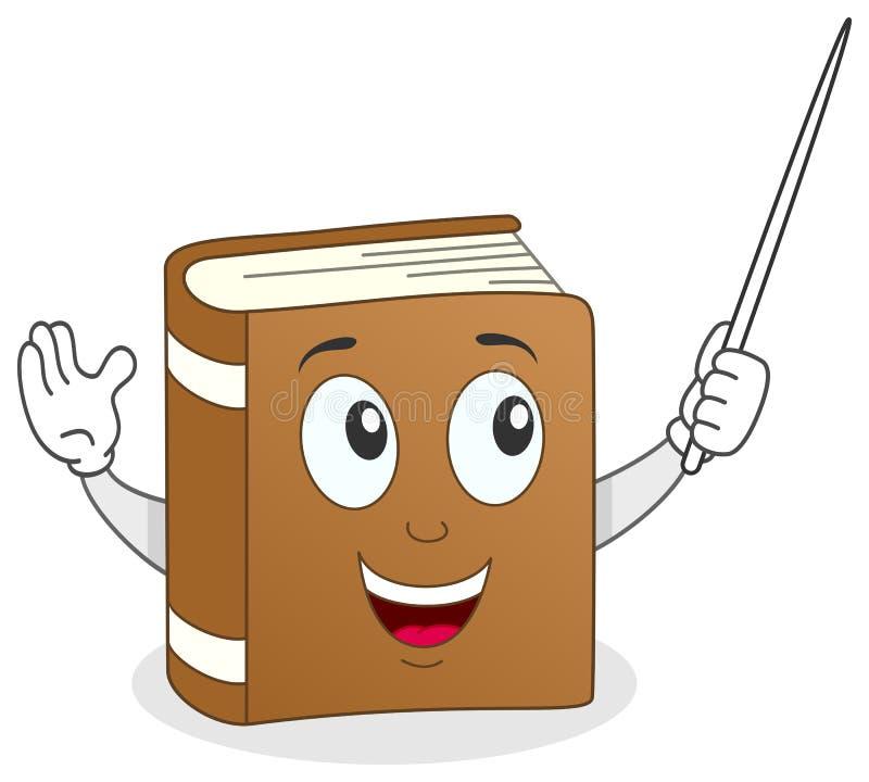 Buch-Lehrer Character mit Zeiger vektor abbildung