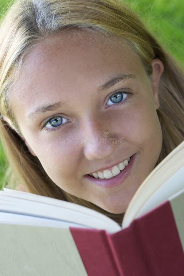 Buch-Mädchen stockbilder