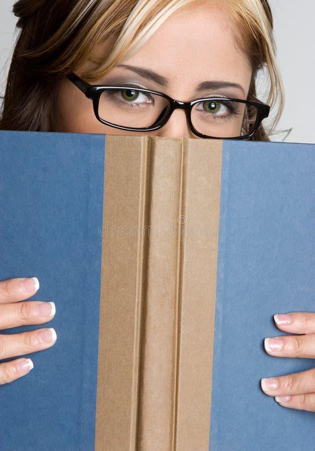 Buch-Mädchen stockfoto