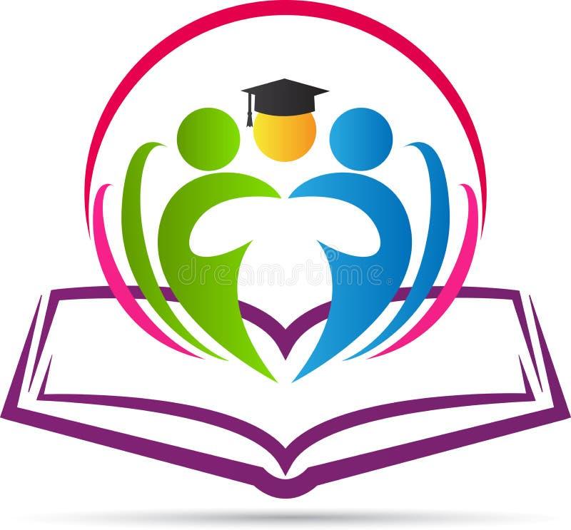 Buch mit Absolvent lizenzfreie abbildung