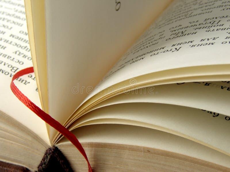 Buch mit Bookmark stockfotografie