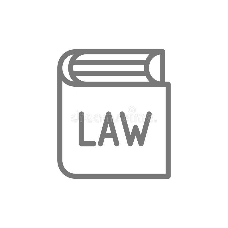 Buch mit Gesetzen, Konstitutionslinie Ikone lizenzfreie abbildung