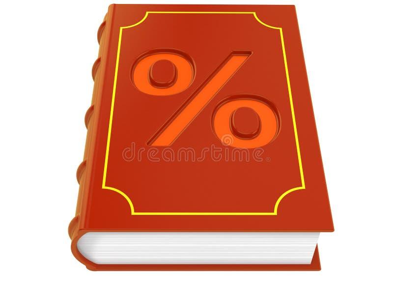Buch mit Prozentsymbol lizenzfreie abbildung