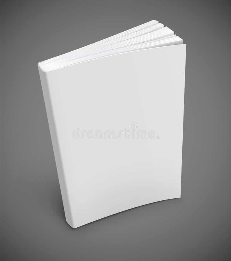 Buch mit unbelegter weißer Abdeckung stock abbildung