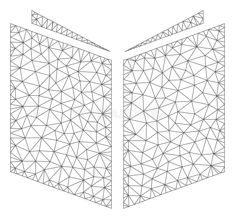 Buch-polygonaler Rahmen-Vektor Mesh Illustration vektor abbildung