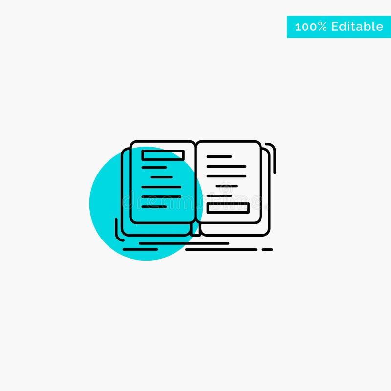 Buch, Roman, Geschichte, Schreiben, Theorietürkishöhepunktkreispunkt Vektorikone vektor abbildung