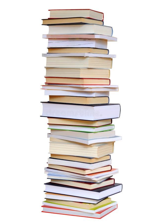 Buch-Stapel auf Weiß stockfotos