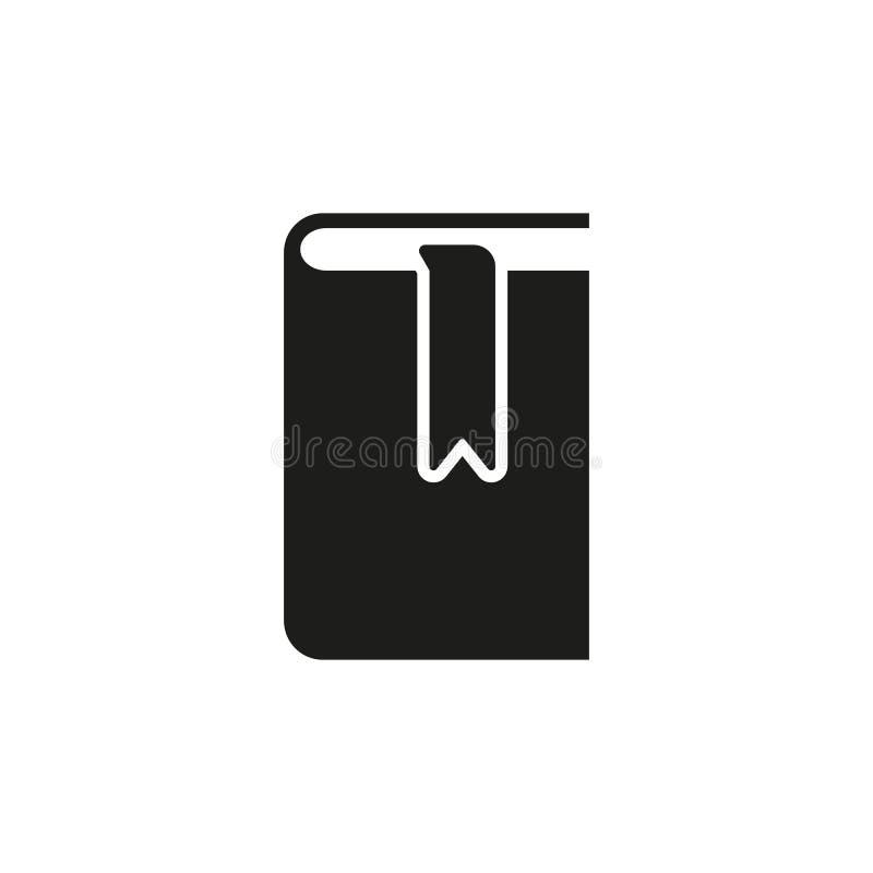 Buch- und Bookmarkikone ENV 10 Bibliothekssymbol web graphik jpg ai app zeichen nachricht flach bild zeichen ENV stock abbildung