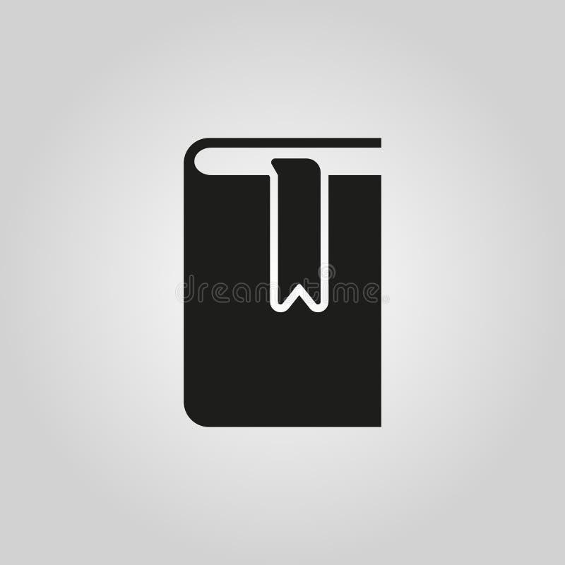 Buch- und Bookmarkikone ENV 10 Bibliothekssymbol web graphik jpg ai app zeichen nachricht flach bild zeichen ENV vektor abbildung