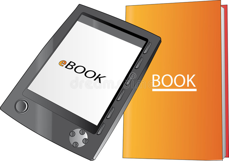 Buch und ebook lizenzfreies stockbild