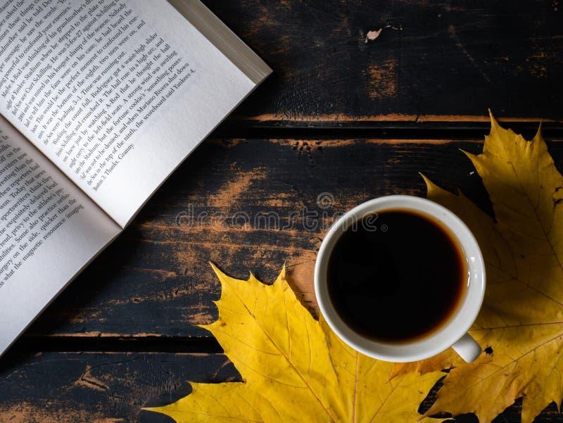 Buch und Kaffee stockfotos