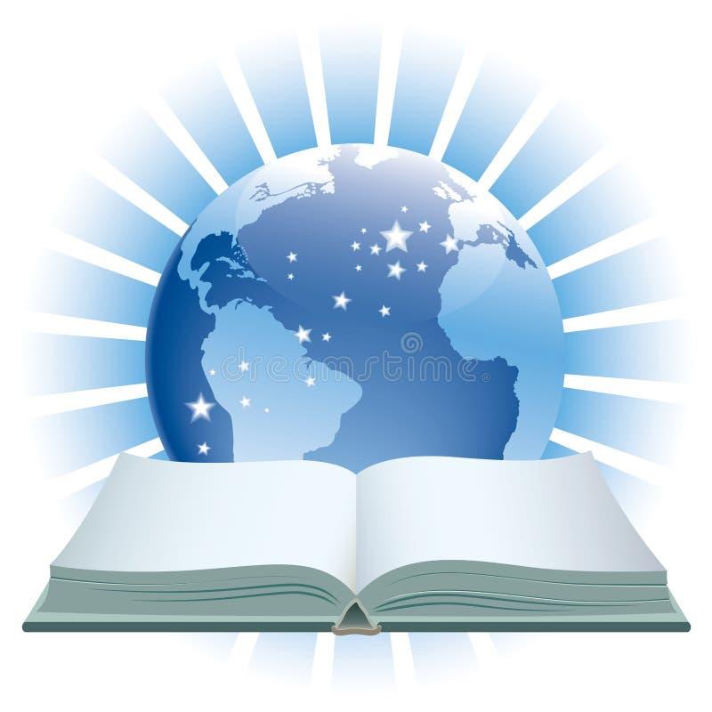 Buch und Kugel lizenzfreie abbildung