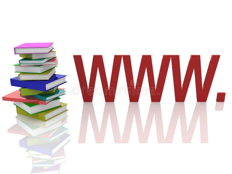 Buch und WWW vektor abbildung