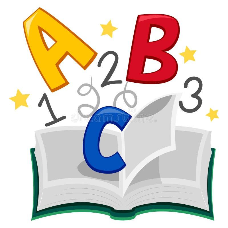 Buch von ABC 123 lizenzfreie abbildung