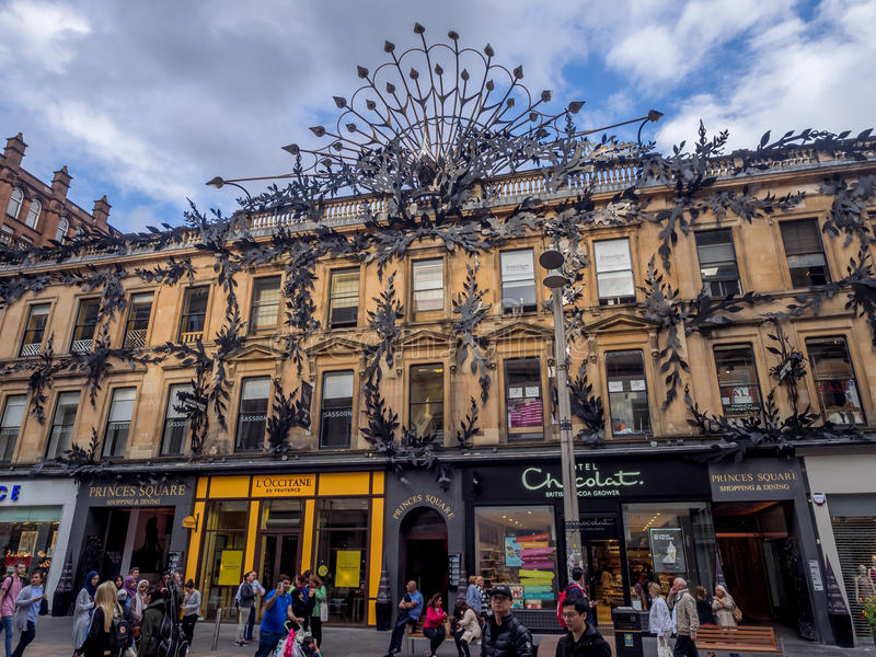 Buchanan Street, Glasgow stock photography