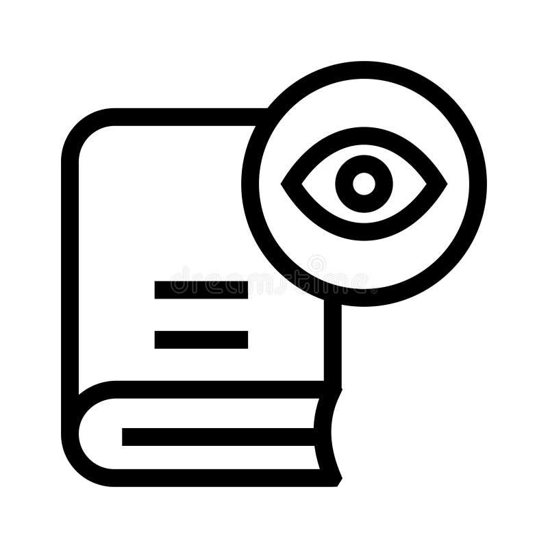 Buchansichtlinie Ikone stock abbildung