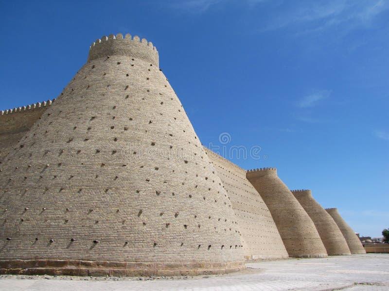 buchara墙壁 免版税库存照片