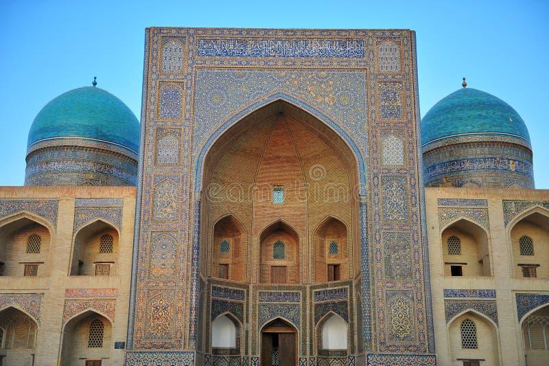 Buchara: facciata di madrassah fotografie stock