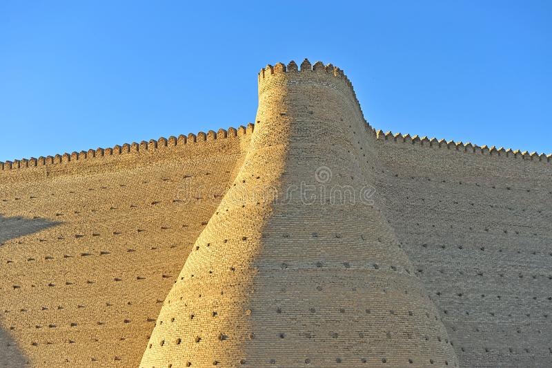 Buchara: la vecchia fortezza fotografia stock