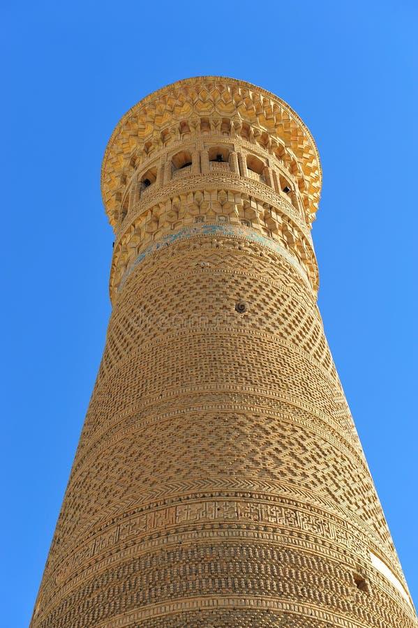 Buchara: Minareto di Kalyan fotografia stock