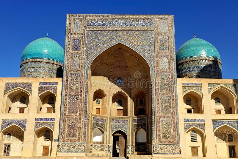 Buchara: Miri Arab Madrasa immagini stock libere da diritti