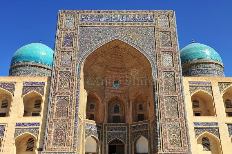 Buchara: Miri Arab Madrasah immagine stock