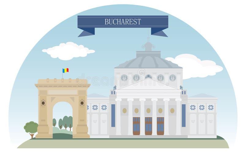 Bucharest royaltyfri illustrationer