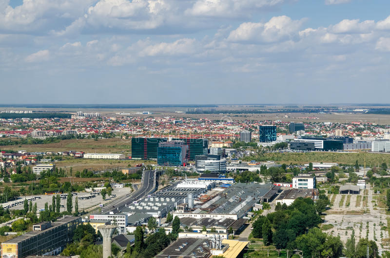 Bucharest Aerial View stock photography