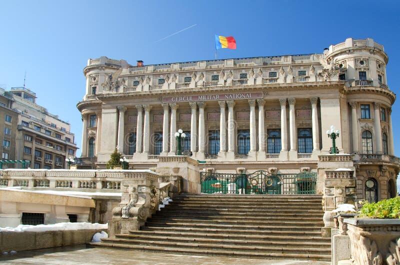 Bucharest-Ansicht - nationaler Armee-Palast lizenzfreie stockfotos
