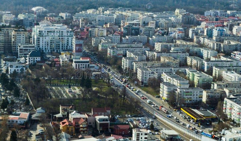 Bucharest - antennen besk?dar arkivfoto