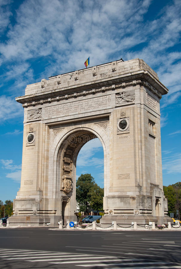 Download Bucharest Arch of Triumph stock image. Image of triumph - 34851095
