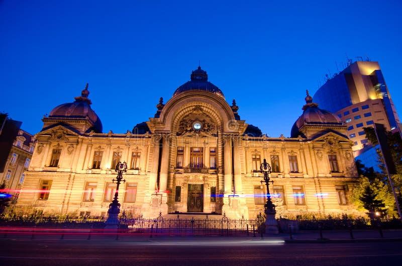 Bucharest center - CEC Palace royalty free stock photos