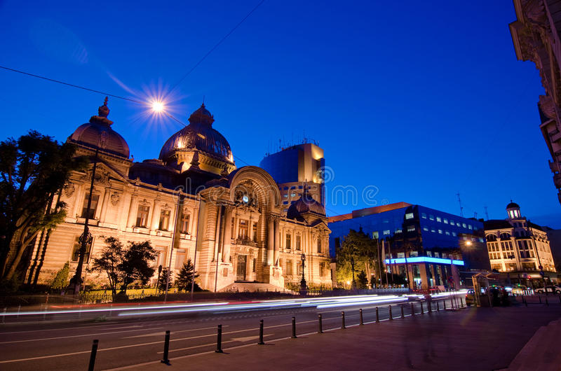 Bucharest center - CEC Palace royalty free stock image