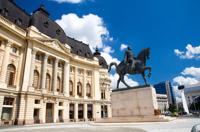 Bucharest - Central Library stock photo