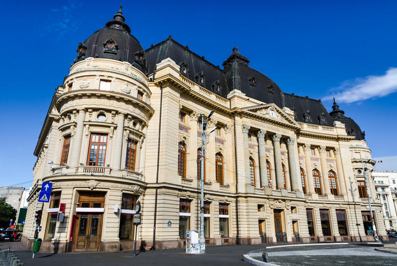 Bucharest, Central University Library stock photo