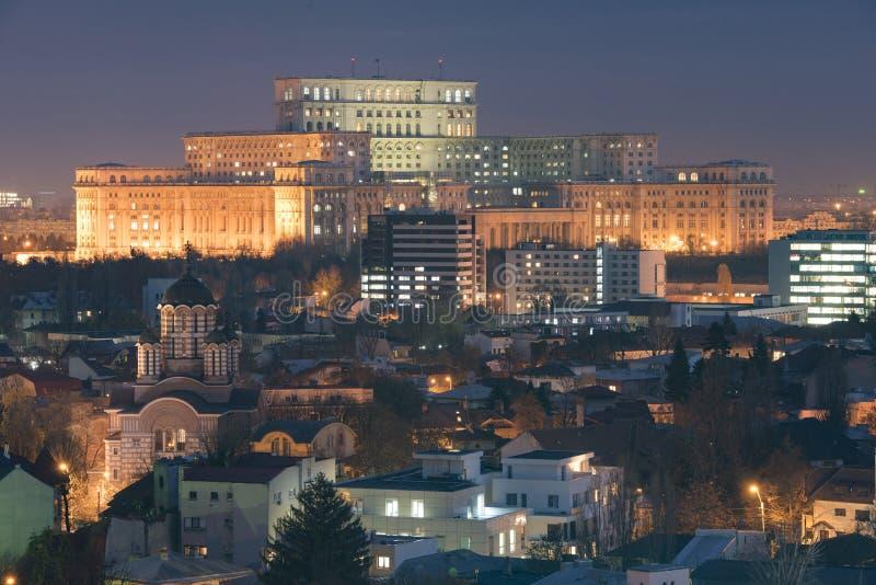 Bucharest cityscape stock image