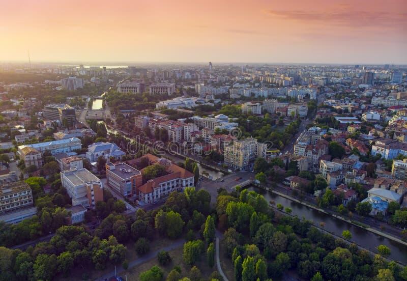 Bucharest cityscape at sunset. royalty free stock image