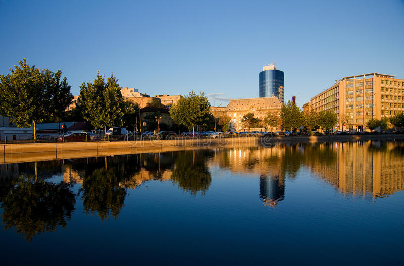 Bucharest - Dambovita flod royaltyfri bild