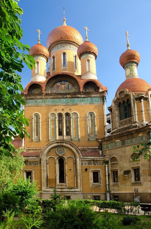 Bucharest - die russische Kirche lizenzfreies stockfoto