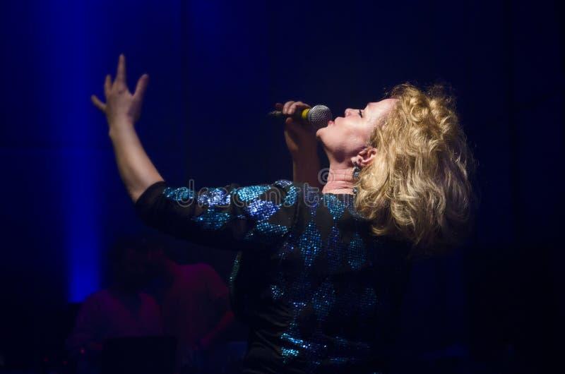 BUCHAREST - FEBRUARY 02: Marina Florea performs in Modern Club o