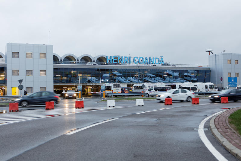 Bucharest Henri Coanda lotnisko międzynarodowe zdjęcia stock