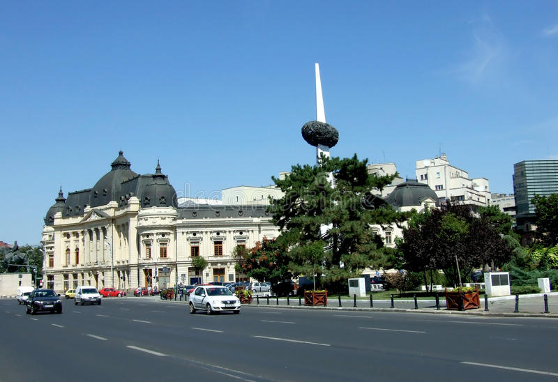 Bucharest im Stadtzentrum gelegen stockbilder